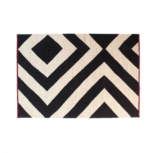 black on white estambul teppich von nanimarquina stoll online shop. Black Bedroom Furniture Sets. Home Design Ideas
