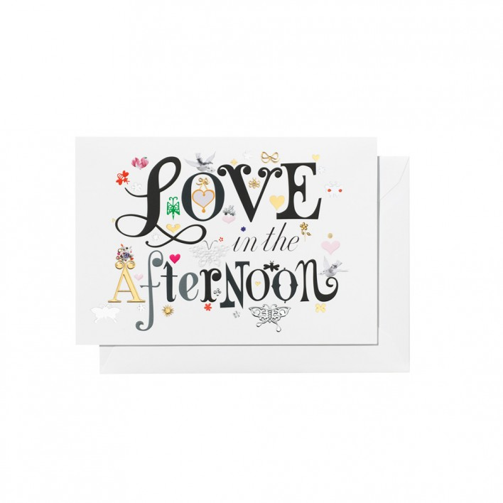 """Greeting Card """"Love in the afternoon"""""""