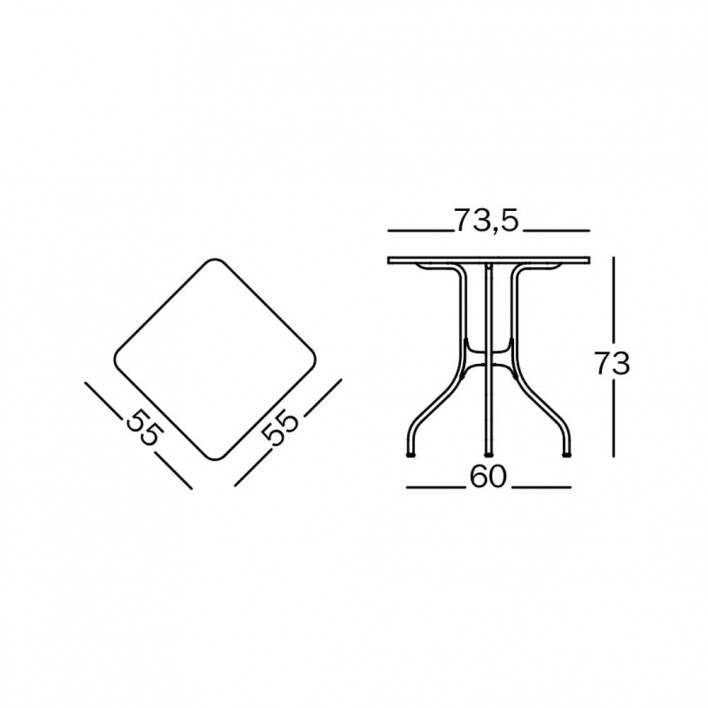 Milá Tisch quadratisch