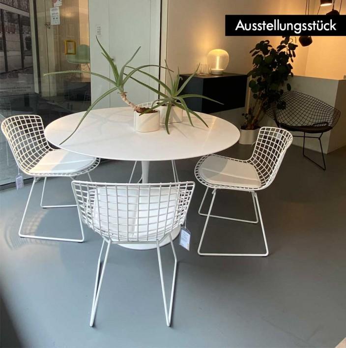Saarinen Tisch mit Bertoia Stühlen Outdoor Set - Ausstellungsstück