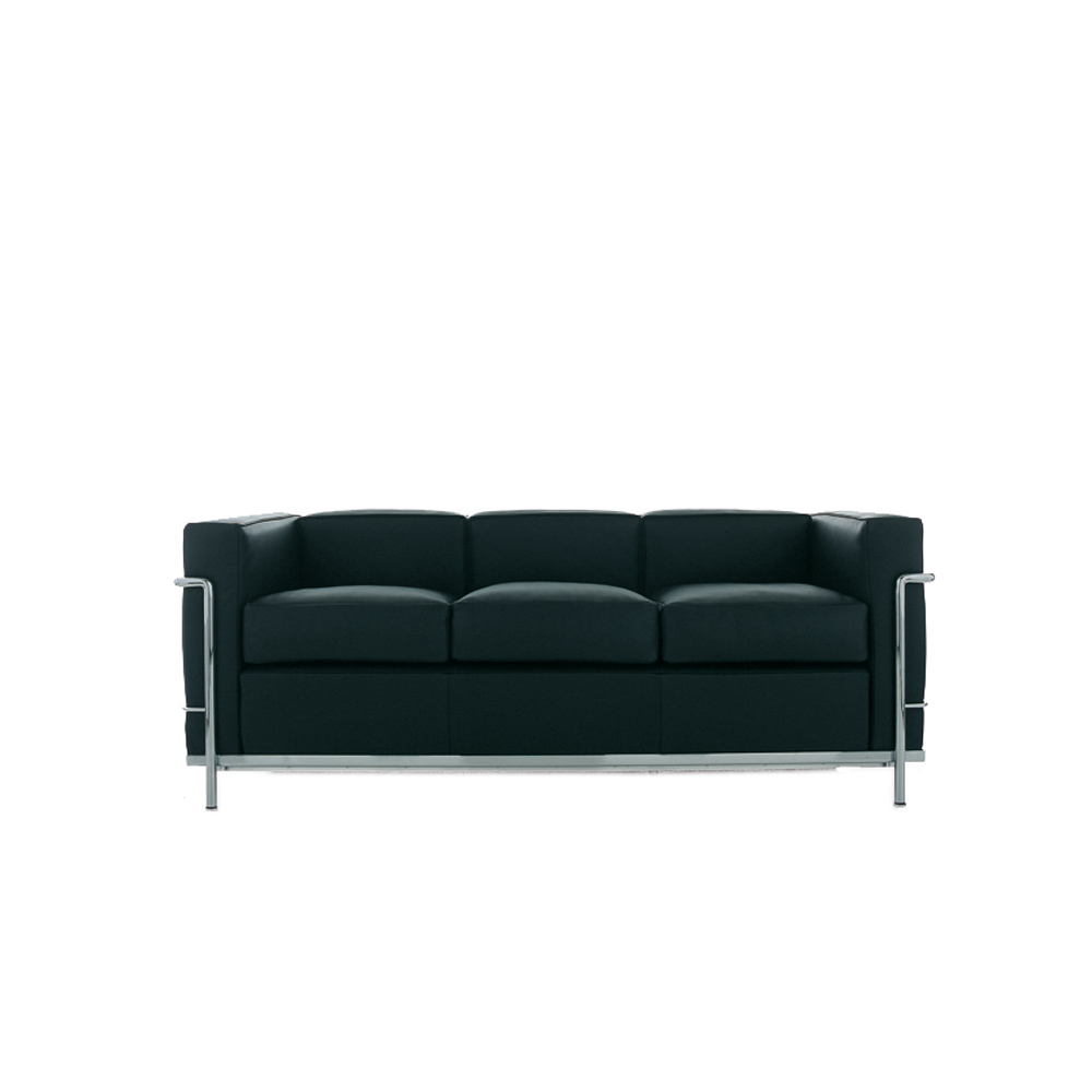 lc2 sofa 3 sitzer von cassina stoll online shop. Black Bedroom Furniture Sets. Home Design Ideas