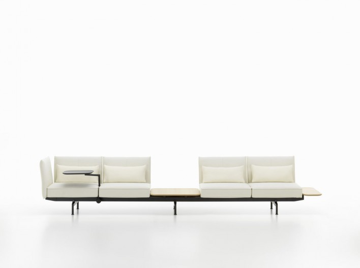 Soft Work Sofa 4-Sitzer mit Tischmodul