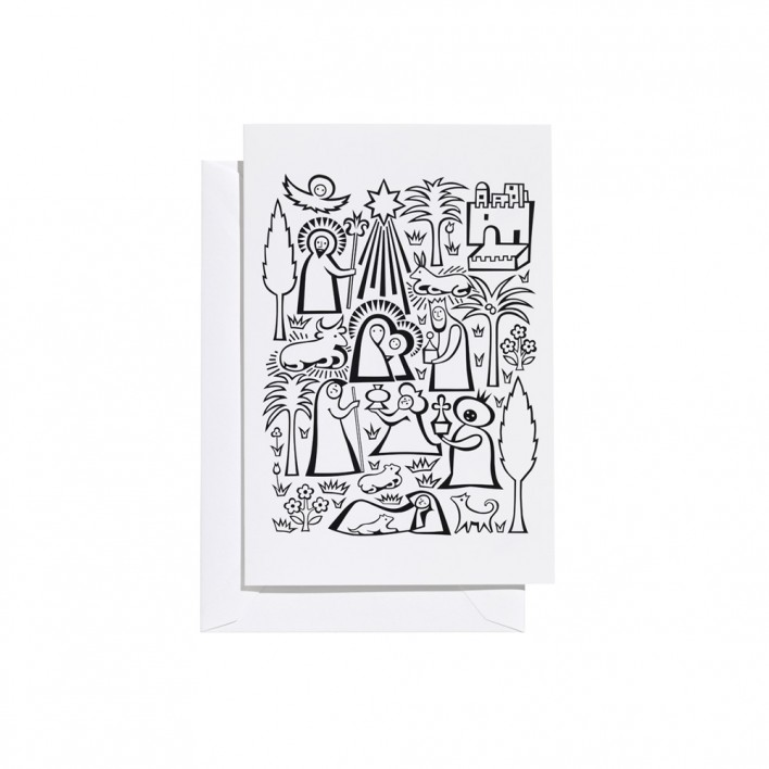 Greeting Card Nativity