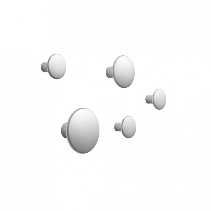 The Dots Metal Coat Hooks 5er Set
