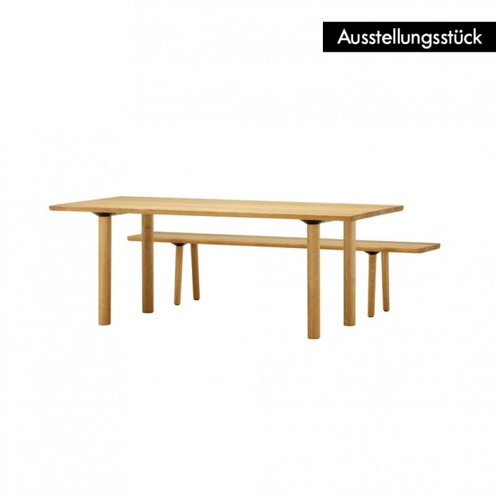 Wood Table 260 mit Sitzbank - Ausstellungsstück