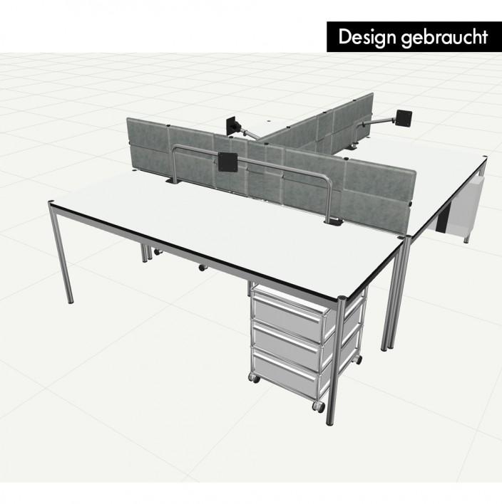 USM Haller 3er Arbeitsplatz - Design gebraucht