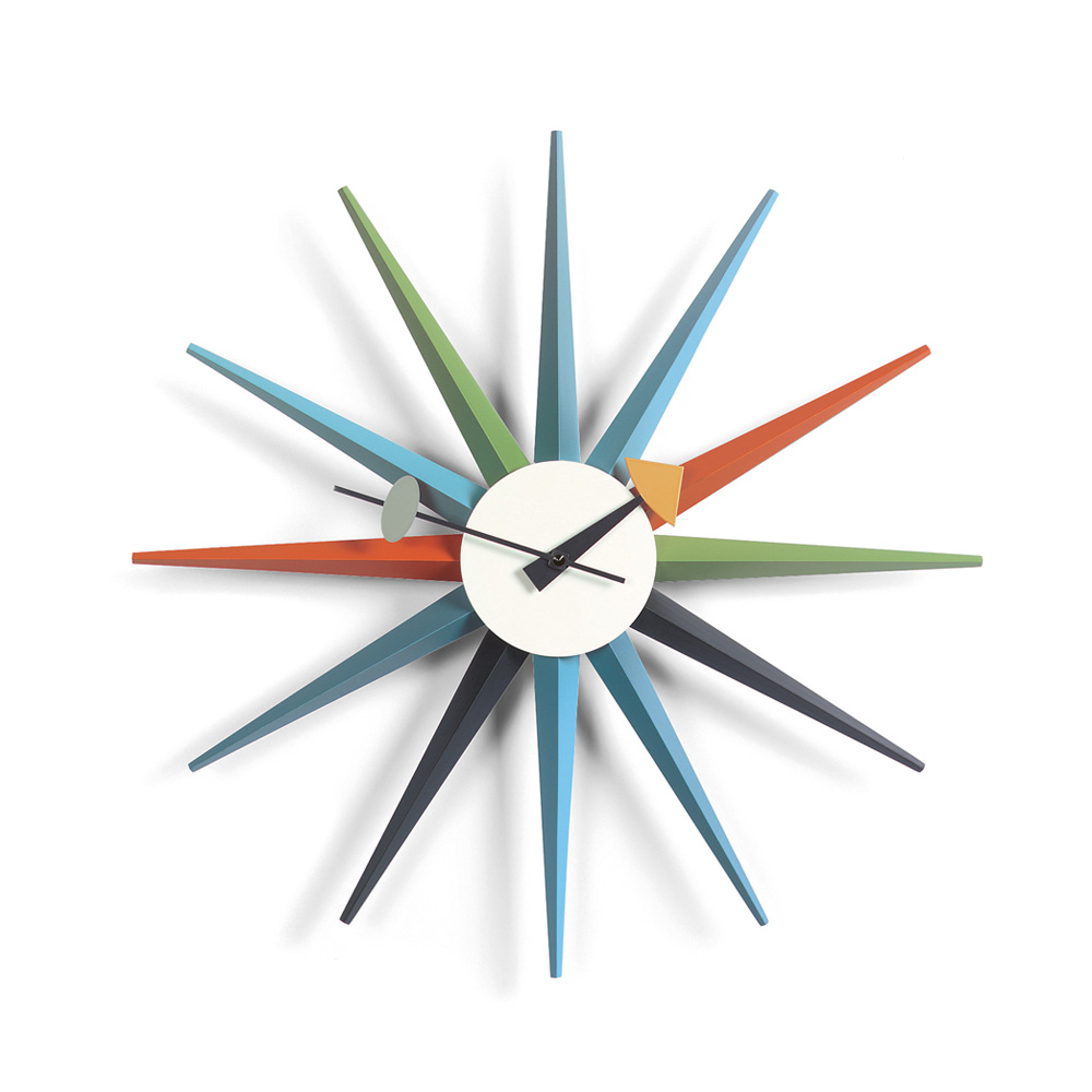 sunburst clock uhr von vitra stoll online shop. Black Bedroom Furniture Sets. Home Design Ideas