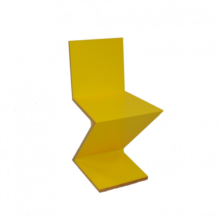 Zig-Zag Stuhl gelb - Ausstellungsstück