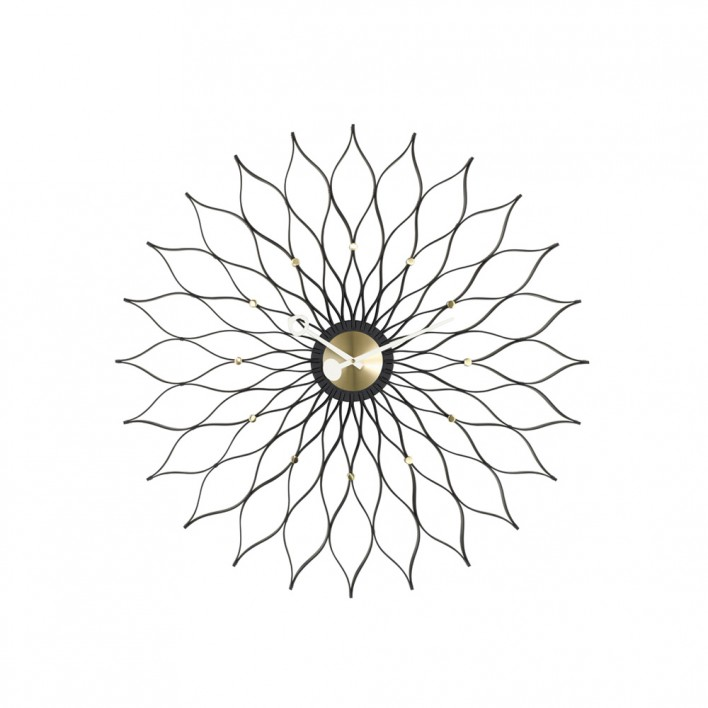 Sunflower Clock Black Edition