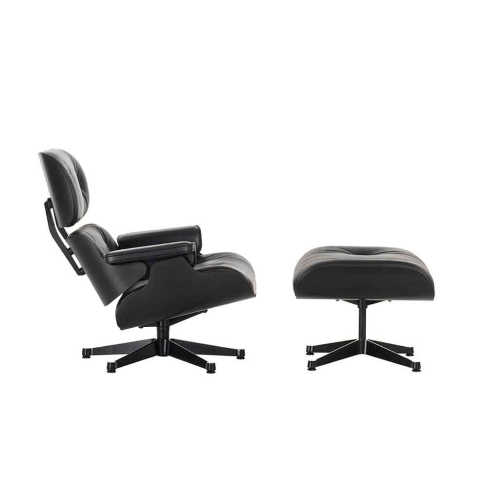 lounge chair black sessel von vitra stoll online shop. Black Bedroom Furniture Sets. Home Design Ideas