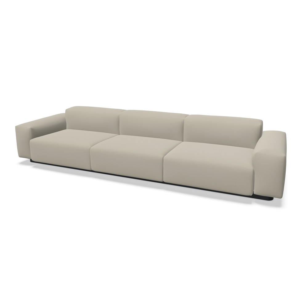 Cosy Homeoffice: Soft Modular Sofa - Dreisitzer