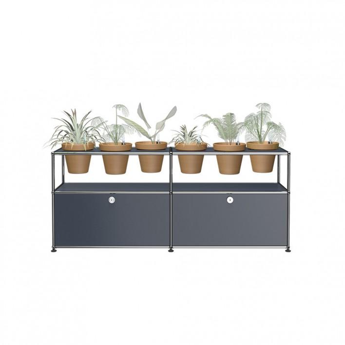 Sideboard mit 6 Pflanzen