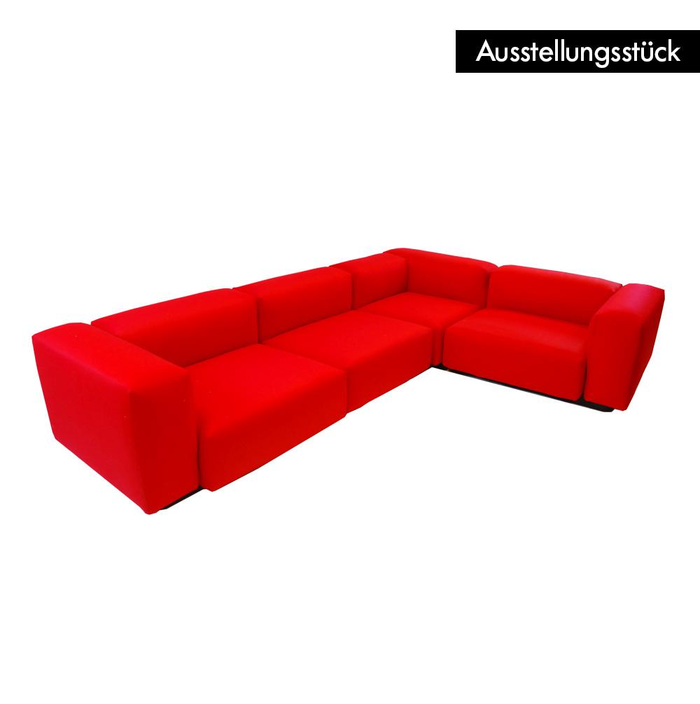 Soft modular sofa rot von vitra ausstellungsst ck for Ausstellungsstucke sofa