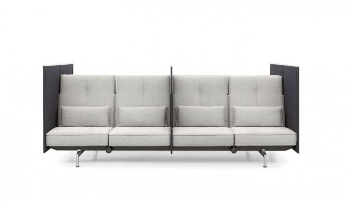 Soft Work Sofa Highback 4-Sitzer Doppel