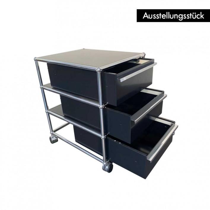 USM Rollcontainer schwarz - Ausstellungsstück