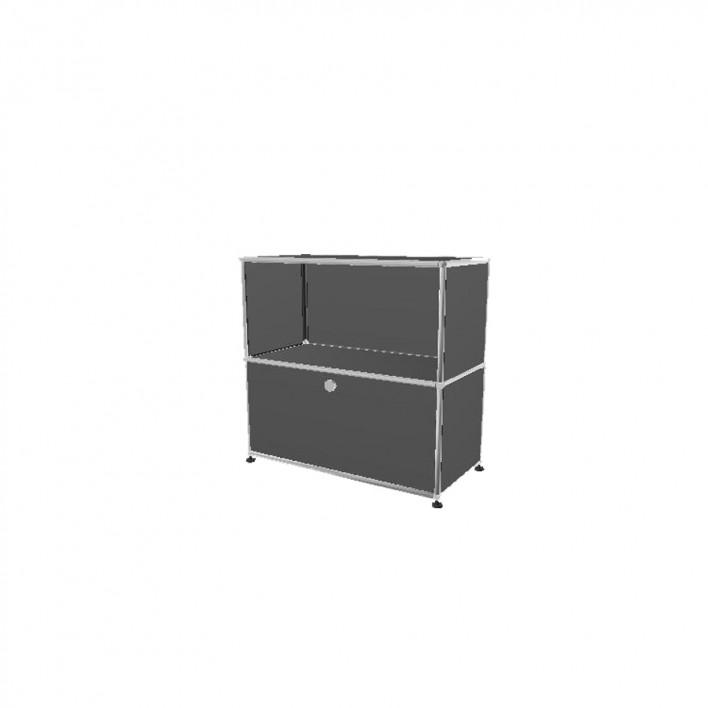 sideboard schmal mit klappt re von usm haller stoll online shop. Black Bedroom Furniture Sets. Home Design Ideas